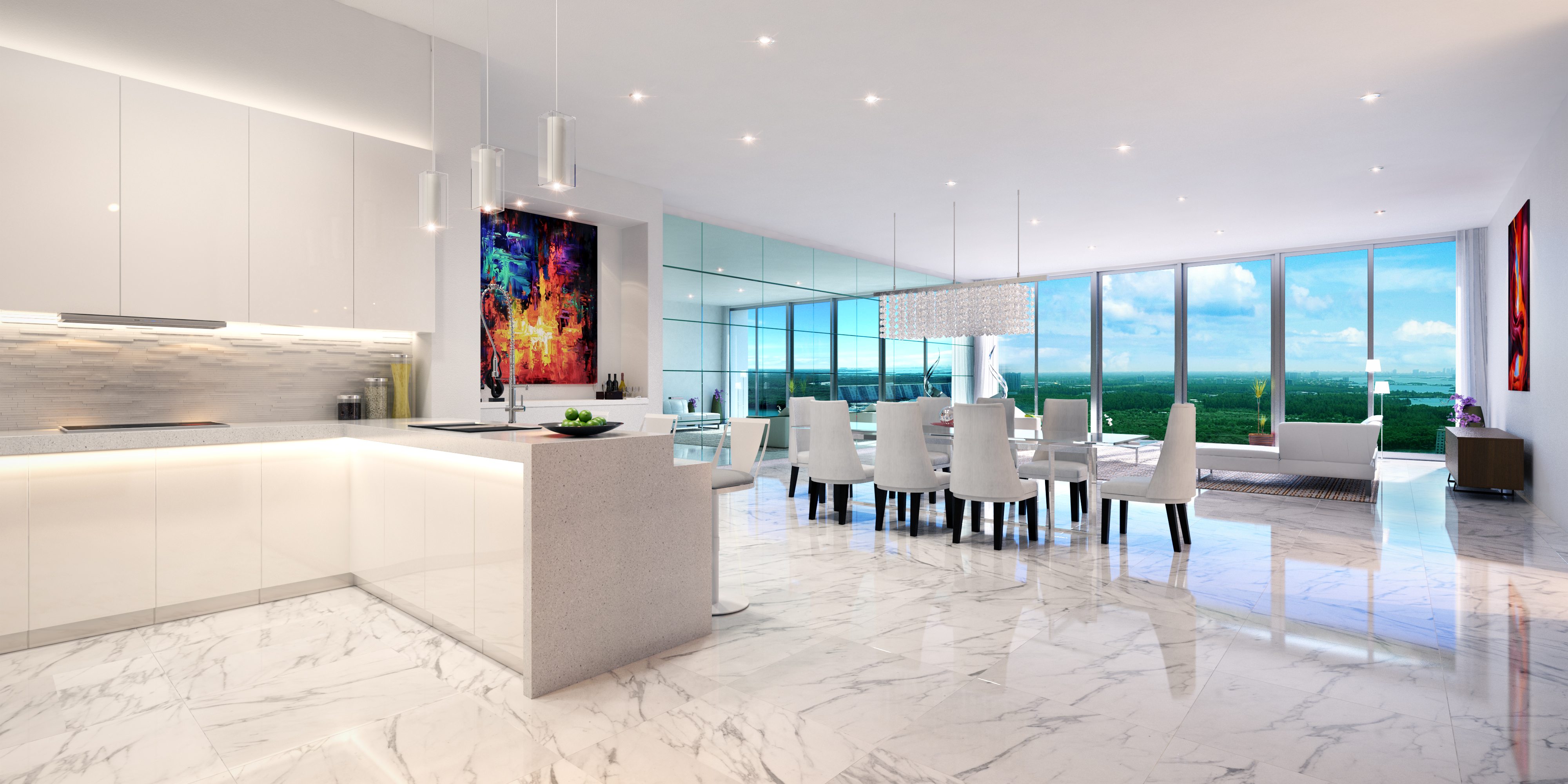 Parque Towers Penthouse Living & Dining